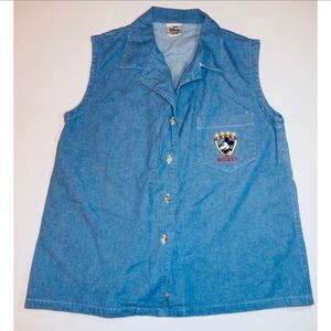 Disney Store Mickey Mouse Vintage Jean Shirt Med